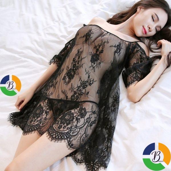 Lace Night Dress see through Lingerie Nightgown Mini Nightwear Women Sleep Dress Night Gown Sleepwear » Brabeton » The People's Marketplace » 20/10/2021