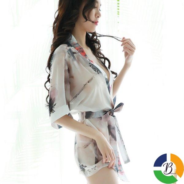 Ladies Sexy Nightdress Fashion Women Kimono Style Splicing Nightwear V neck Sleepwear Summer Homewear Nightgown For 2 » Brabeton » The People's Marketplace » 25/01/2021