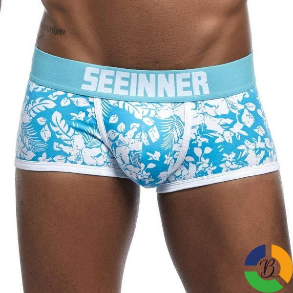 New Brand Male Panties Breathable Boxers Cotton Men Underwear U convex pouch Sexy Underpants Printed leaves 2 » Brabeton » The People's Marketplace » 01/10/2020