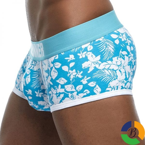 New Brand Male Panties Breathable Boxers Cotton Men Underwear U convex pouch Sexy Underpants Printed leaves 3 » Brabeton » The People's Marketplace » 01/10/2020