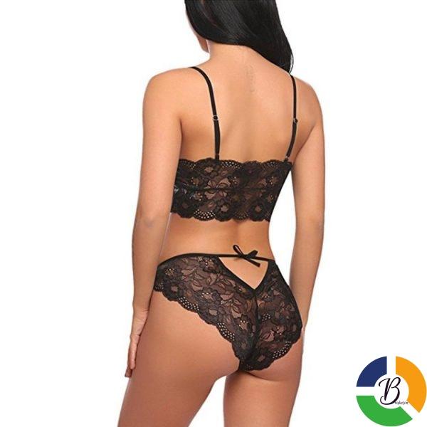 Women Sexy Lingerie Set 2 Pieces Lace Bralette Panty Split Underwear Set 3 » Brabeton » The People's Marketplace » 08/03/2021