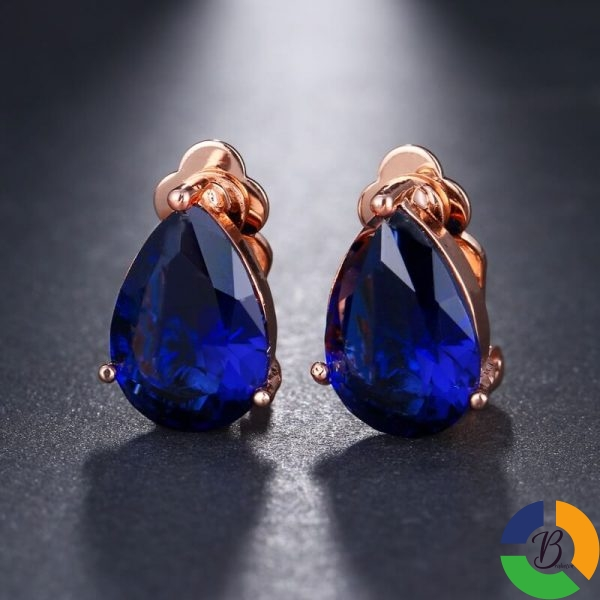 Fashion Water Drop Cubic Zirconia Clip Earrings With Elegant Blue Stone Earrings for Punk Girl Party 1 » Brabeton » The People's Marketplace » 25/11/2020