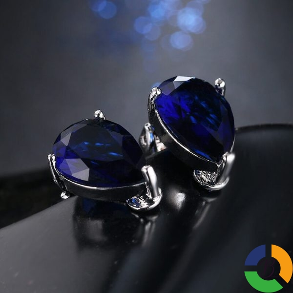 Fashion Water Drop Cubic Zirconia Clip Earrings With Elegant Blue Stone Earrings for Punk Girl Party » Brabeton » The People's Marketplace » 25/11/2020