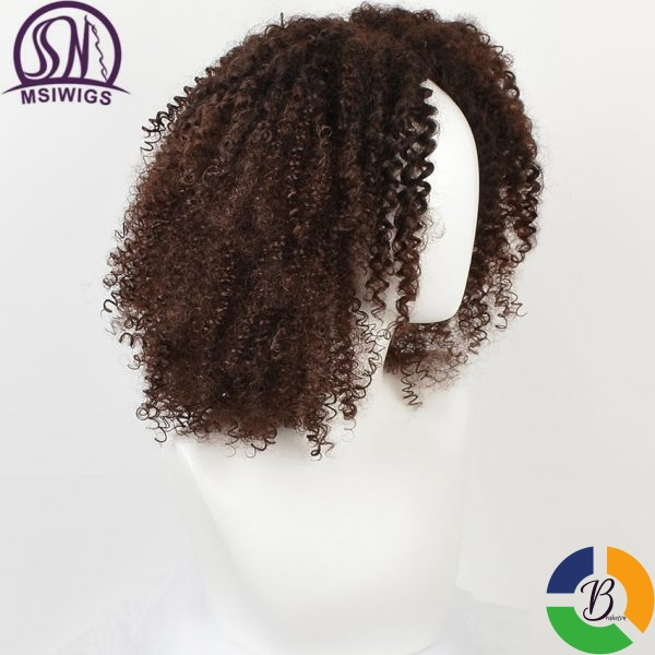 MSIWIGS Brown Synthetic Curly Wigs for Women 4 Colors Ombre Short Afro Wig African American 14 1 » Brabeton » The People's Marketplace » 21/01/2021