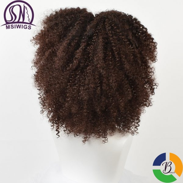 MSIWIGS Brown Synthetic Curly Wigs for Women 4 Colors Ombre Short Afro Wig African American 14 2 » Brabeton » The People's Marketplace » 26/09/2020
