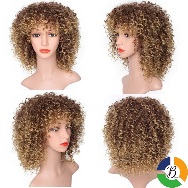 MSIWIGS Brown Synthetic Curly Wigs for Women 4 Colors Ombre Short Afro Wig African American 14 5 » Brabeton » The People's Marketplace » 21/01/2021