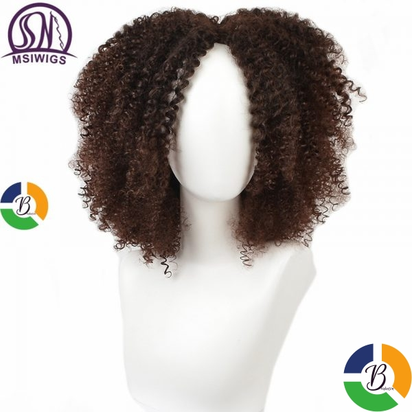 MSIWIGS Brown Synthetic Curly Wigs for Women 4 Colors Ombre Short Afro Wig African American 14 » Brabeton » The People's Marketplace » 21/01/2021