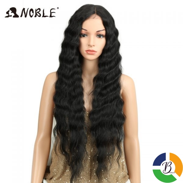 Noble Long Black Wig Deep Wave High Temperature Fiber Middle Part 30 Inch 150 Heavy Density 2 » Brabeton » The People's Marketplace » 30/09/2020