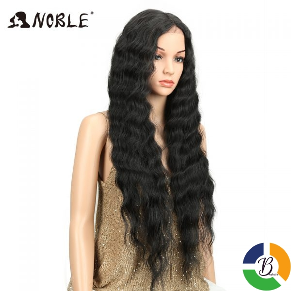 Noble Long Black Wig Deep Wave High Temperature Fiber Middle Part 30 Inch 150 Heavy Density 3 » Brabeton » The People's Marketplace » 03/08/2021