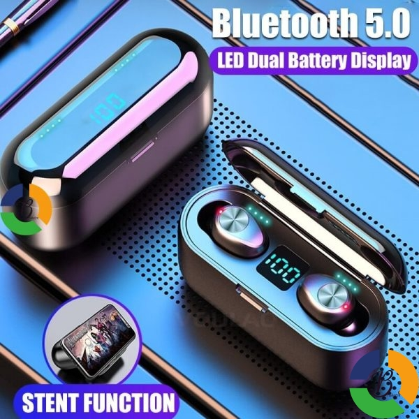 VOULAO Bluetooth 5 0 Earphone 8D Stereo Wireless Headphones Sport Waterproof Handsfree Earbuds Headset with 2000 » Brabeton » The People's Marketplace » 28/03/2020