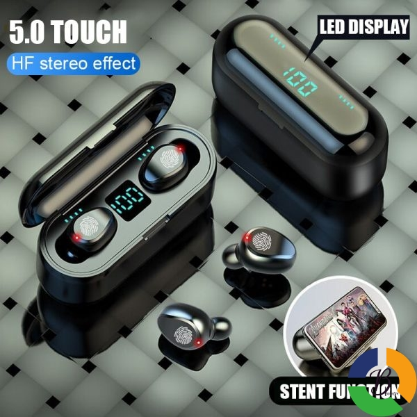Wireless Earphone Bluetooth V5 0 F9 TWS Wireless Bluetooth Headphone LED Display With 2000mAh Power Bank 4 » Brabeton » The People's Marketplace » 22/09/2021