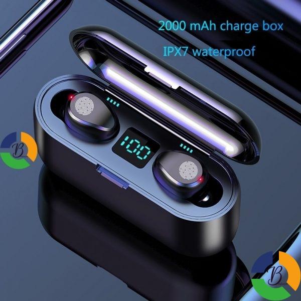 Wireless Earphone Bluetooth V5 0 F9 TWS Wireless Bluetooth Headphone LED Display With 2000mAh Power Bank » Brabeton » The People's Marketplace » 22/09/2021