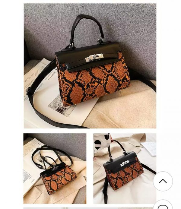 Brown Leopard Print Bags - Brabeton