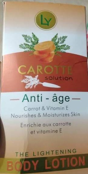 Ly Carotte Solution Body Lotion Brabeton