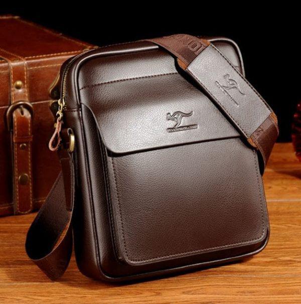 Vintage Crossbody Business Leather Shoulder Bag For Men