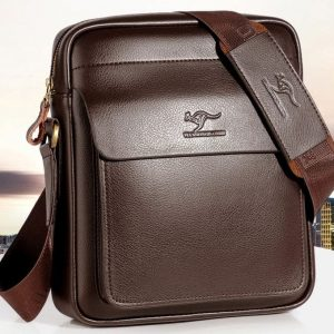 Vintage Crossbody Business Leather Shoulder Bag For Men