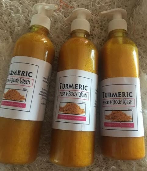 Turmeric face and body wash Brabeton